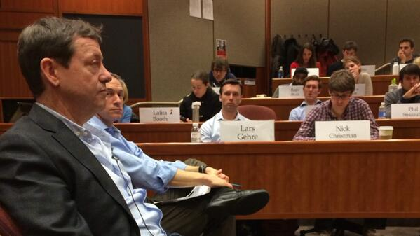 Fun to watch @fredwilson come to @HarvardHBS #HBSLTV cc: @bussgang http://t.co/CU8LsFkBhc