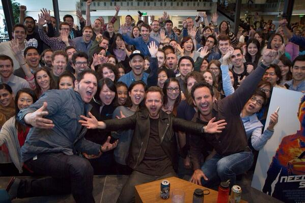 How's this for a selfie? Thanks @aaronpaul_8 for the stopping by @twitter today http://t.co/cSxcVFiCFG