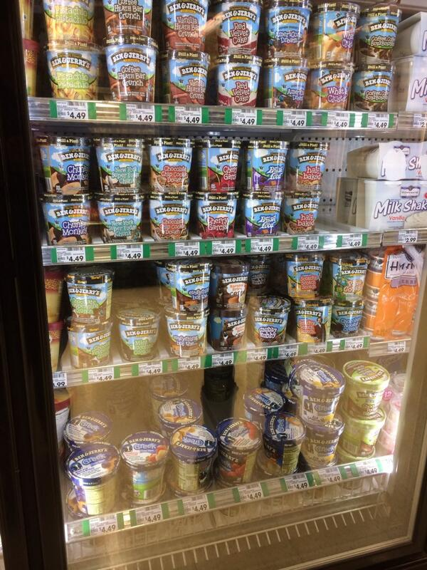 "Just walked into the ice-cream aisle and ""Let it go"" from Frozen starts playing over the sound system @DickTalens http://t.co/qrRpORoimd"