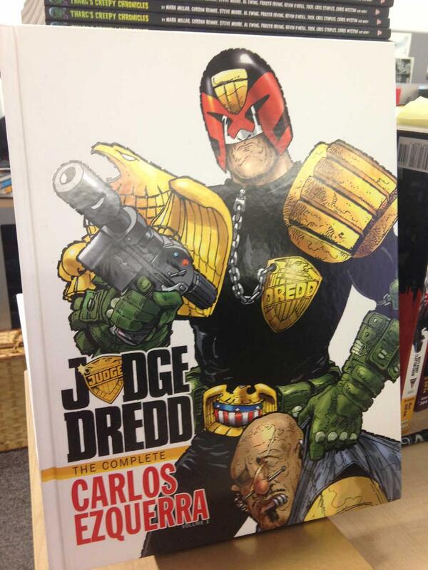 It's our birthday & we're giving away graphic novels all day! RT to win The Complete Carlos Ezquerra book! #2000AD http://t.co/4mI9NCfoKD