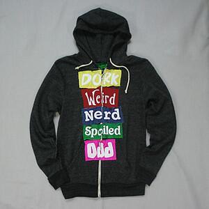 "[PO s/d 15 Maret] Jacket Hoodie Cody Simpson & Alli Simpson ""Dork Weird Nerd"" Rp 170.000 pic.twitter.com/WkzdkKR8Jr"