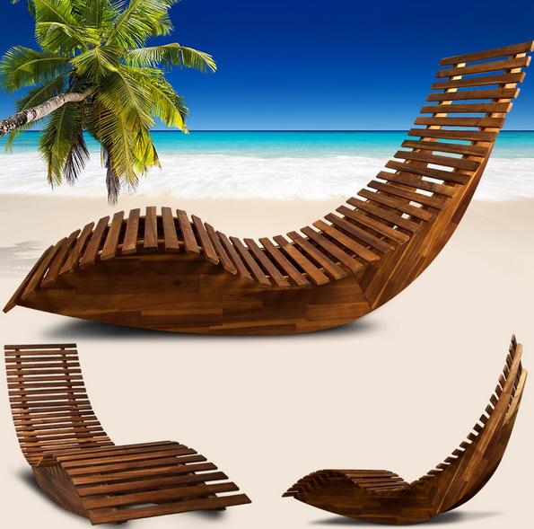 Mecedora tumbona hamaca silla balanc n reclinable de for Mecedoras para jardin
