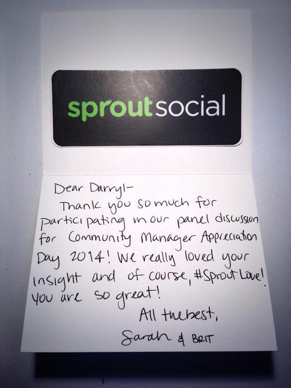 A2. I want to add @SproutSocial to this list! Handwritten letters NEVER go out of style! cc: @sprout_sarah #cmgrchat http://t.co/VXR3ANnpE6