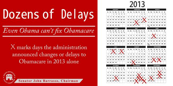 .@SenatorReid if bad #Obamacare stories are all lies—why has #POTUS unilaterally delayed many parts of his own law? http://t.co/SA4KsUSjM4