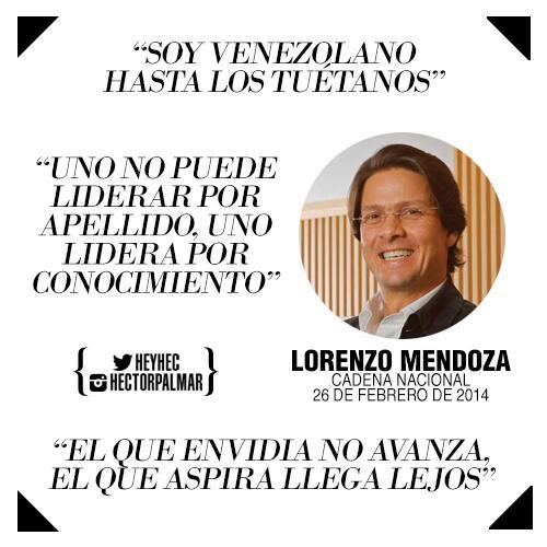 Las tres mejores frases que le dijo Lorenzo Mendoza en Cadena Nacional a Nicolas Maduro. http://t.co/Z3VUwDNKTQ