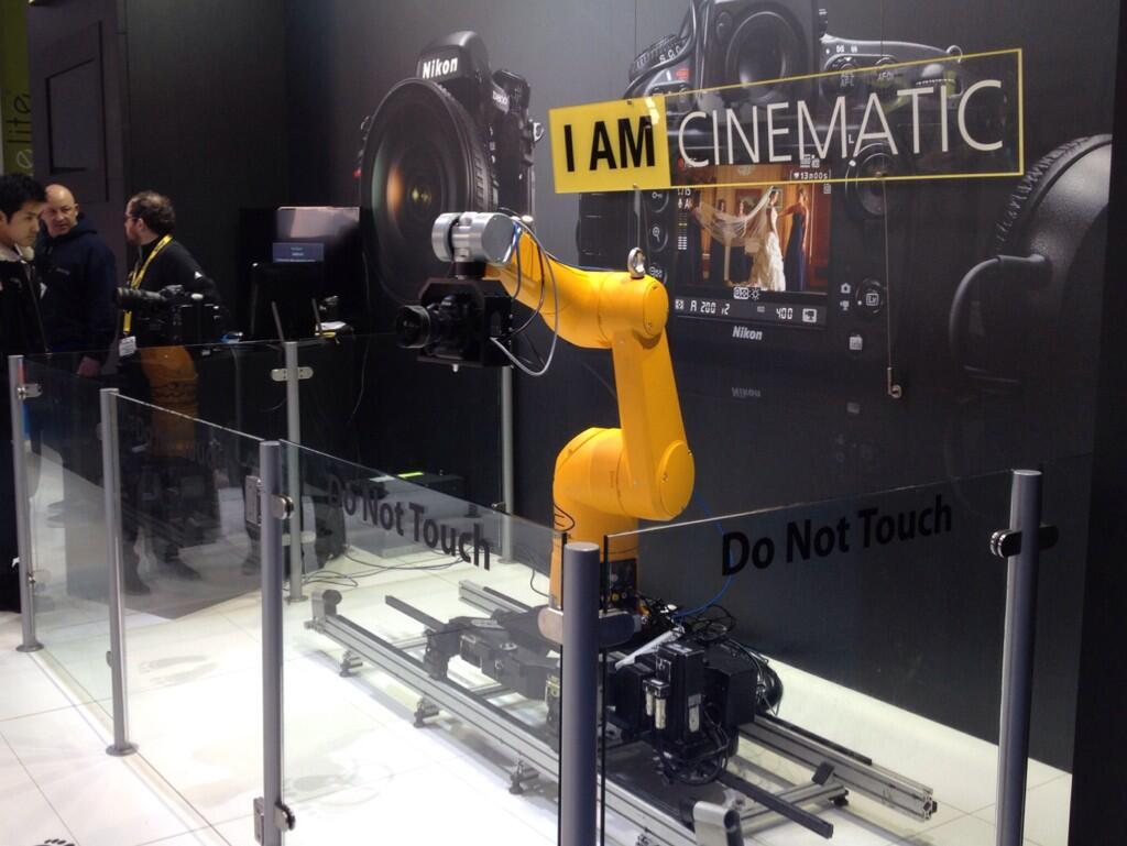 Twitter / mrmoco1: Studiobot at the BVE expo London. ...