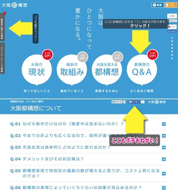 【拡散希望】 みなさまお待たせいたしました! 大阪維新の会公式HPに 『都構想Q&Aのページ』開設です☆ 「都構想っていったいなに?」を解消して二重行政も解消! http://t.co/YXClNdHbcs #維新AD http://t.co/B1jtTCe7MQ