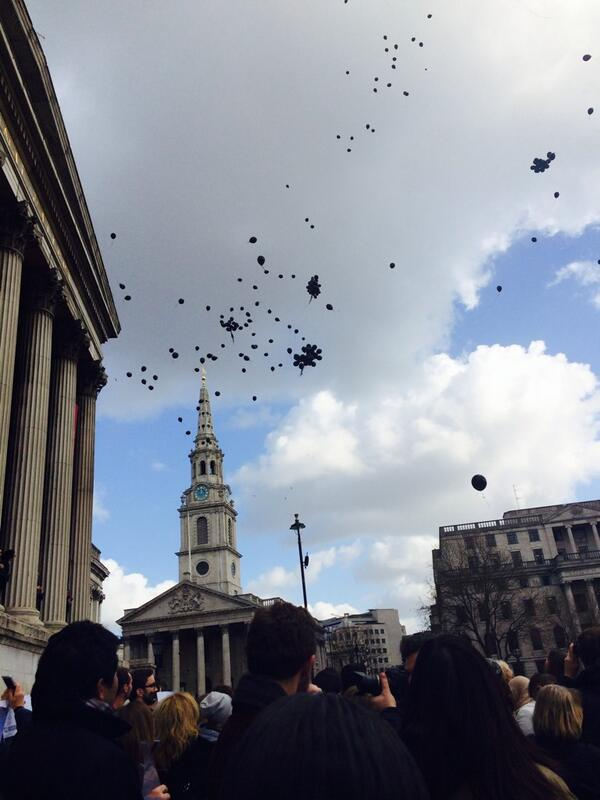 Balloon release to mark day of action  #FreeAJStaff #london #Egypt http://t.co/2ta1BVLTwe
