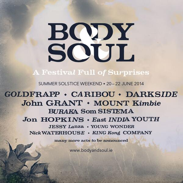 So, here it is. Our first LINE-UP announcement for #BodyandSoul14….more acts to follow.. http://t.co/8nym8Iv6Yx http://t.co/Z4vPPTzsUX