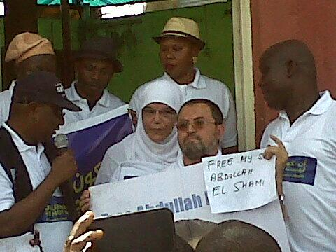 """""""Free my son, a cry from @abdallahelshamy's father in Abuja, Nigeria. Journalism is not a crime #FreeAJStaff http://t.co/FqhvTCQu33"""""""