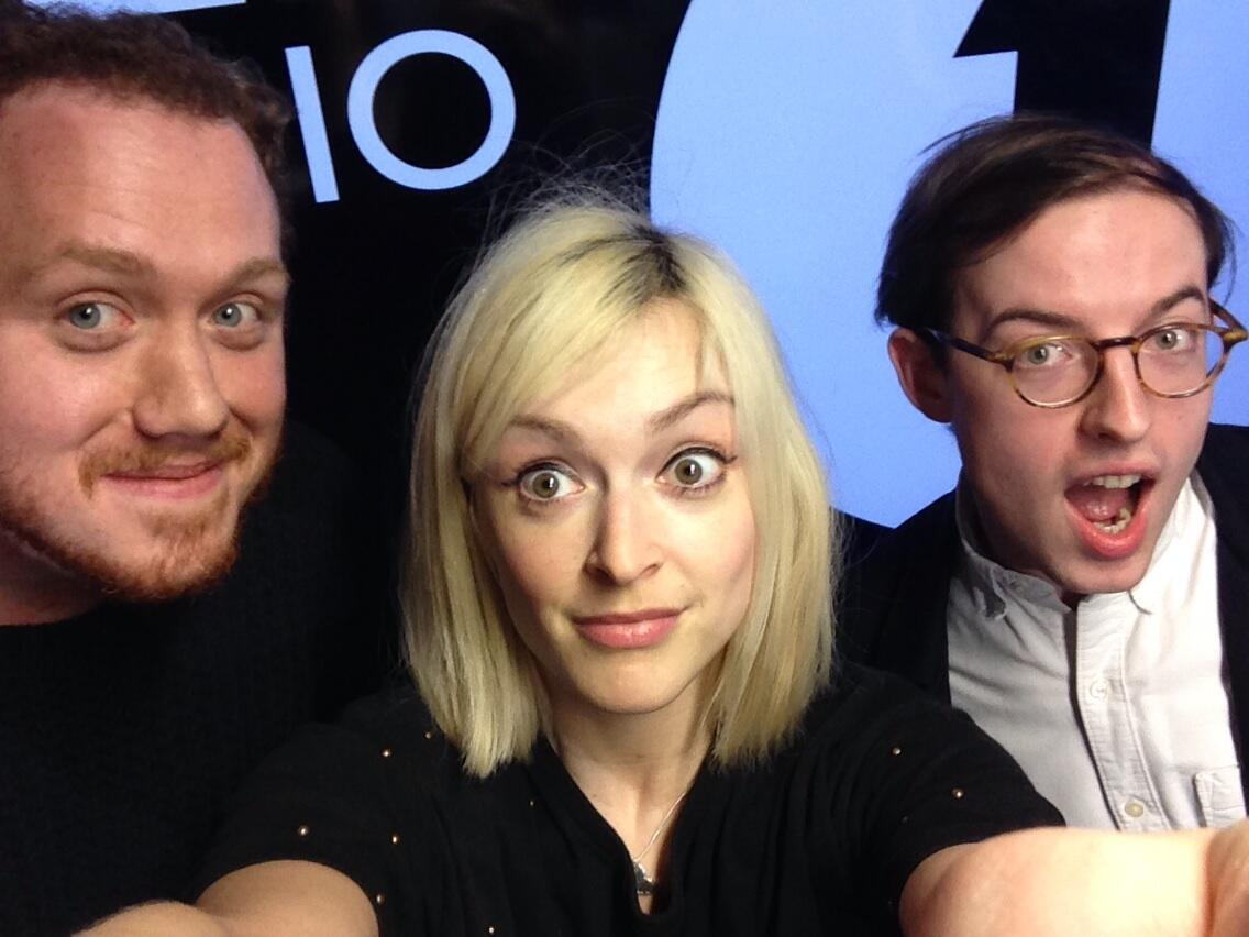 In the #R1livelounge today Bombay bicycle club. Here's Jack and Jamie pre performance http://t.co/rAj6ax6rqs