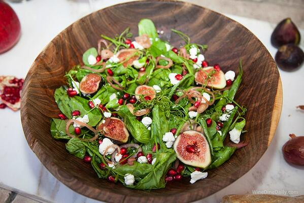 #Healthy #recipeoftheday Pea Tendril Salad with Figs and Pomegranate #recipe ~ http://t.co/iItLgADVCx http://t.co/7HXVcGB6KX