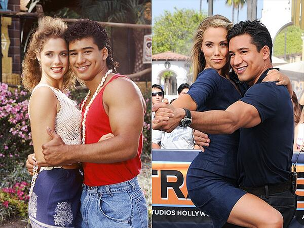 """""""@aurel5701: @MarioLopezExtra @ElizBerkley 20 years between these 2 pictures :) %TBT #savedbythebell http://t.co/FGaZf7y0K4"""" luv!"""