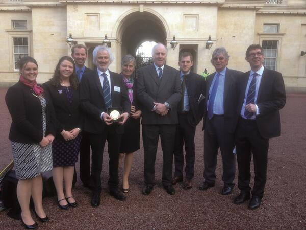 @BritishMonarchy A happy and proud group of staff & students from @DuchyCollege with their #QueensPrize http://t.co/SFGj84c9NZ