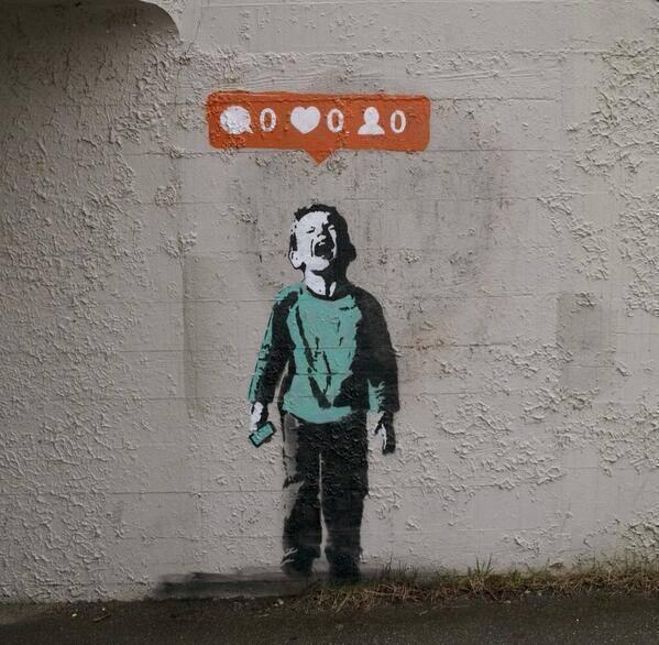 Twitter / MattNavarraUK: NEW Banksy - A poke at Social ...