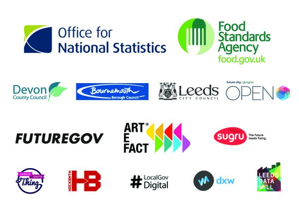 The people helping us make #NHTG14 possible @ons @foodgov @FutureGov @Artefact_Cards @sugru @hackbmth @Leedsdatathing http://t.co/fOhsFpYs6I