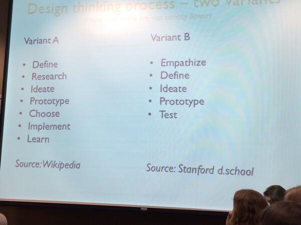 Two variants of design thinking process. #sciodesign http://t.co/dnvU861Fy5