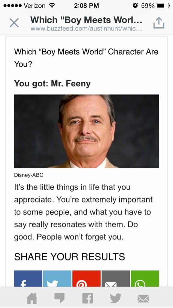 I got Mr. Feeny.  http://t.co/COEJxcOri6 http://t.co/O4zijtLyOA