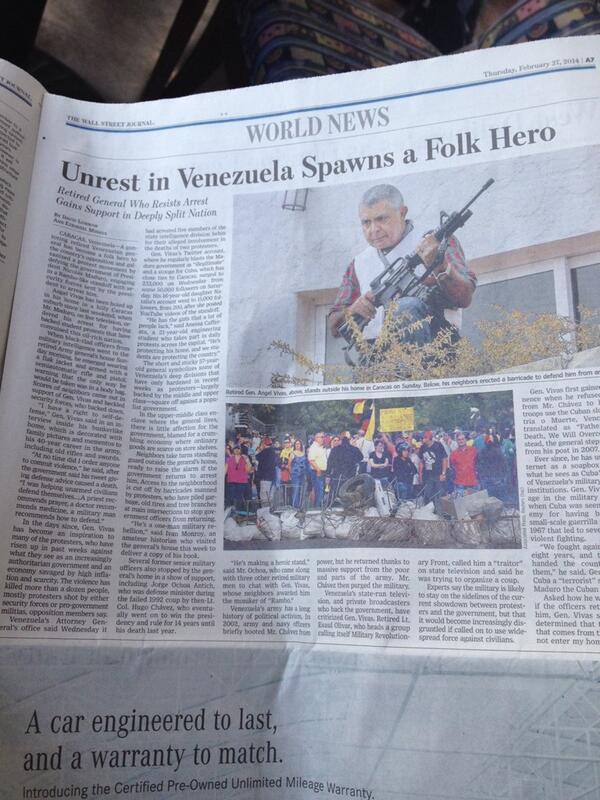 """En el @WSJ de hoy: """"@Gral_Vivas_P: VENEZUELA...No te rindas... ¡YO NO LO HE HECHO!"""" http://t.co/ykAArFP5Z7"""