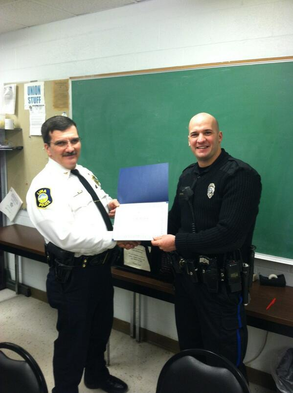 Officer Aaron Montgomery was selected by his peers as the 2nd Shift outstanding employee of the year.