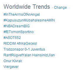 OMG you guys are amazing!!! #InTheArmsOfAnAngel trending WORLDWIDE!!! I love each & every one of you!!!! http://t.co/3hrYTxNt8r