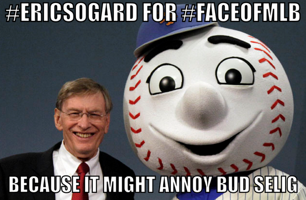 Because this whole contest is a farce to begin with. Bring it home for #EricSogard #FaceOfMLB. http://t.co/V4StjDdNav