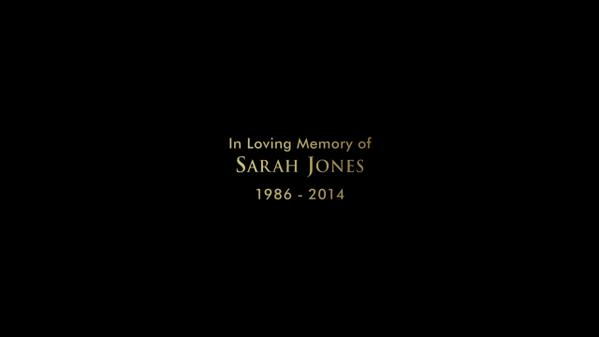 Beautiful tribute tonight to Sarah Jones on #TVD. #slatesforsarah @julieplec @paulwesley @iansomerhalder @ninadobrev http://t.co/nSG5ufKOF4