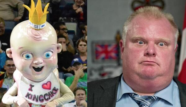 Late Night With Seth Meyers On Twitter You Have To Admit The Resemblance Between The New New Orleans Pelicans Mascot And Rob Ford Is Uncanny Lnsm Http T Co Wllhwmeg09