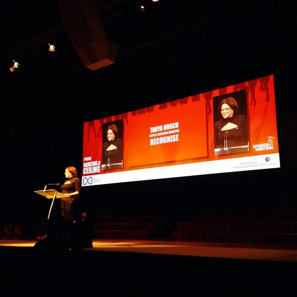The fabulous @tanyahosch takes the stage at #wss tonight. @RecogniseAU http://t.co/Pn5sLNaUWQ