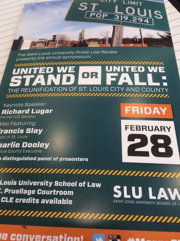 United We Stand or United We Fall - interested to hear the discussion @slulaw #MergeSTL http://t.co/d88OtdWnYZ