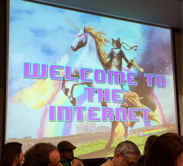 Welcome to the internet! Do we need flashy images to connect? #scio14 #scioBEYOND http://t.co/a8dv7r8QnT