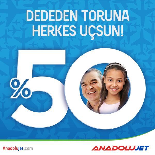 Uçmanın yaşı olmaz, %50 indirim kaçmaz! Bilet ve kampanya detayları için tıklayın: http://t.co/EOwHoP2UxB http://t.co/CjJbA9e4pj