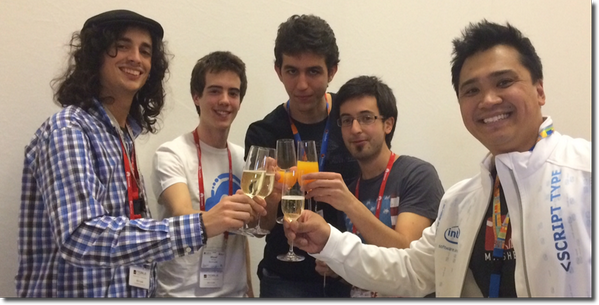 "Congrats to ""Catch & Win"" - winners of @Mashery & @IntelSoftware prize & Best in Show @WipJam hackathon! #mwc14 http://t.co/nCcRjHG6AO"