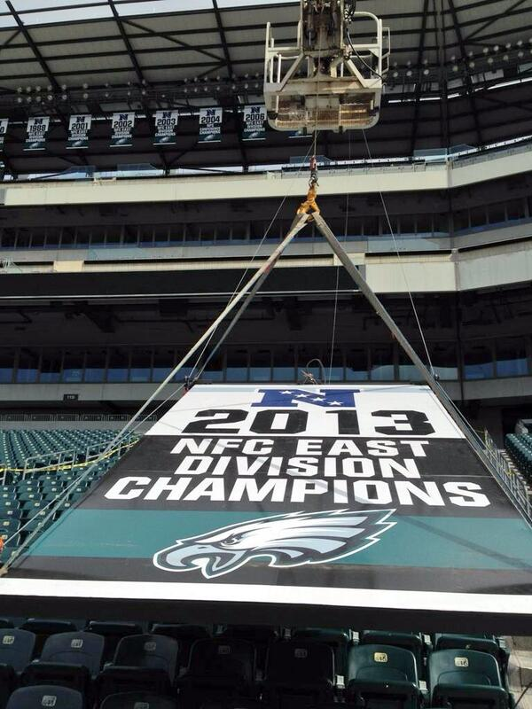 A welcome addition to the rafters. #FlyEaglesFly http://t.co/IBkYQaMDAU