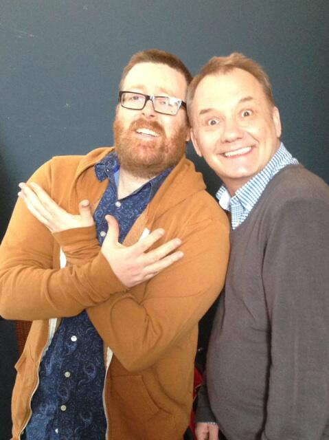 RT @RealBobMortimer: Frankie and me at the filming of our new cookery show http://t.co/8IPcvJgGpp