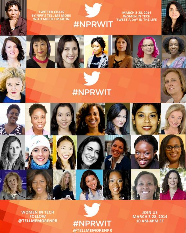Join us on Monday as we launch our Women in Tech Twitter and radio series! #NPRWIT http://t.co/CGgpgKUmta http://t.co/QaenkUKsn6