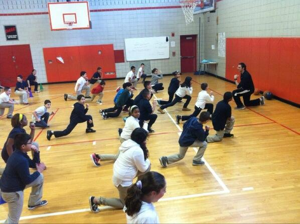 @FLOTUS, GES Friday Fitness Blast with @alabrunaGES for students in gr. 4 &5 huge success! #letsmove http://t.co/qAO0efTrVf