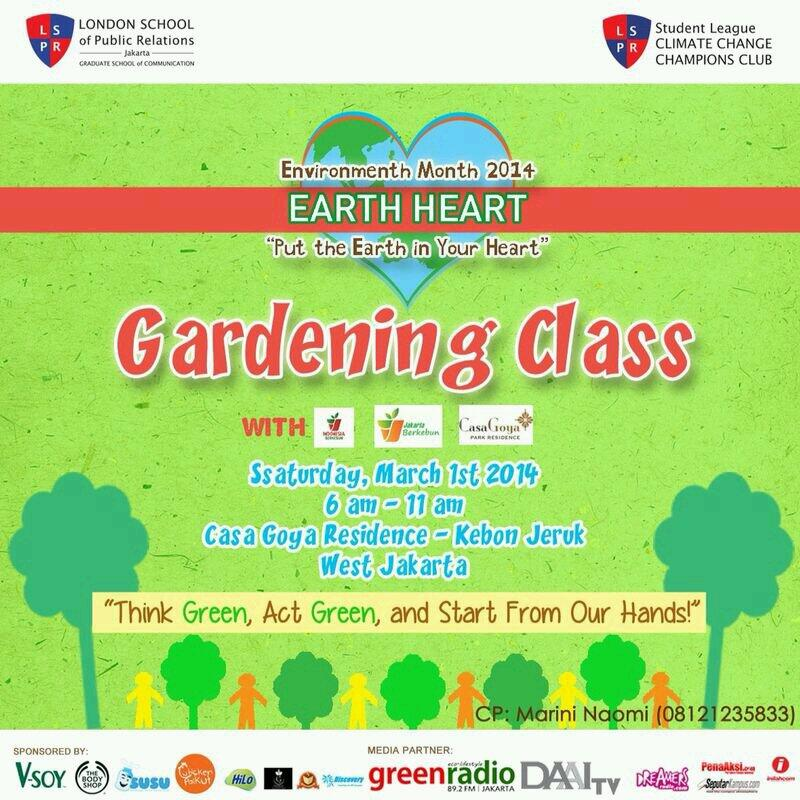 @JktBerkebun Gardening Class with @LSPR_4C | Sabtu, 1 Maret 2014 | Casa Goya, Kebon Jeruk