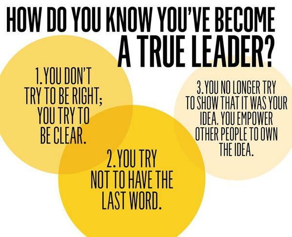 How do you know you've become a true leader? 3 ways to know. #leadership #in RT @valuenetworker @AspireAsia