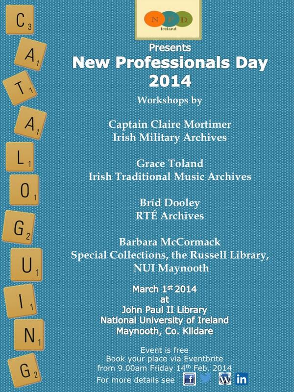 #npdi14  Join us from 11am @NUIMLibrary - where we'll be live tweeting from the presentations & workshops! http://t.co/fWmr8uod0E