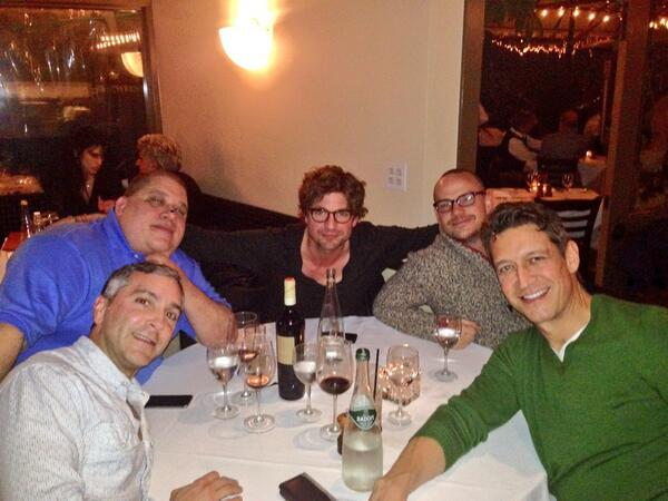 Boys night out for Oscar Weekend!  Thanks to our dear friend Frank. So full I could cry! http://t.co/tLY5Y2gCxQ