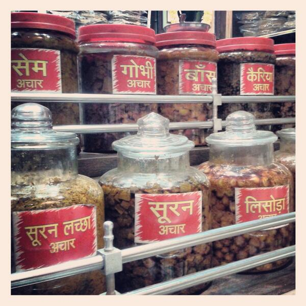 @TravelIndiaChat loved shopping 4 #pickles in #benares. Wowed by variety & display in shops #travelindia delicious 2 http://t.co/XV9I6P9Jxq
