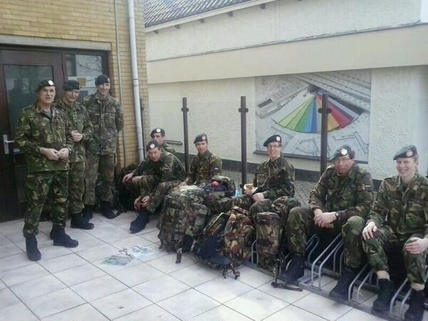 Militairen in het Westland