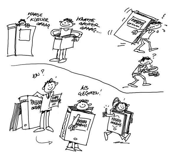 Passend Onderwijs getekend door de Illustratiedienst
