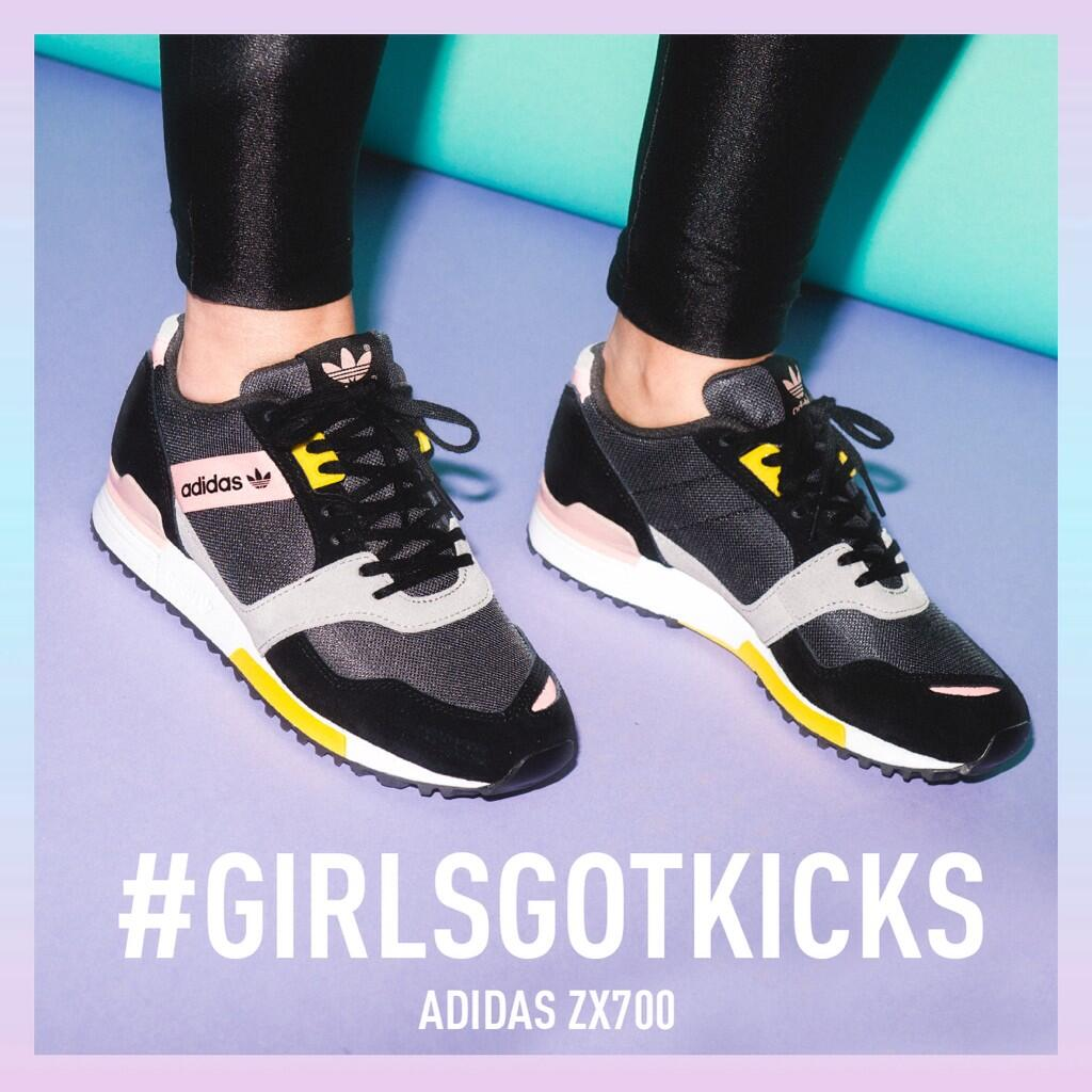 efa85540a ... purchase footasylum on twitter girlsgotkicks adidas originals womens zx700  contemporary in black rose and aluminium 078695