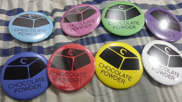 초콜릿파우더 로고 뱃지 사진