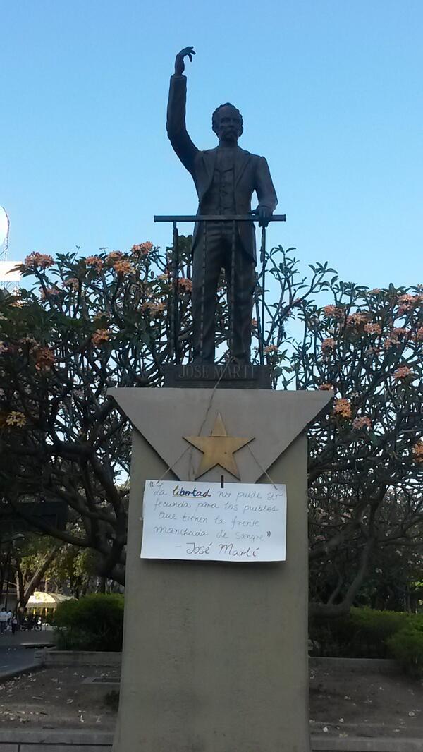 «La libertad no puede ser fecunda para los pueblos que tienen la frente manchada de sangre». Desde Chacaíto #USB http://t.co/baji0KHOjT #1M