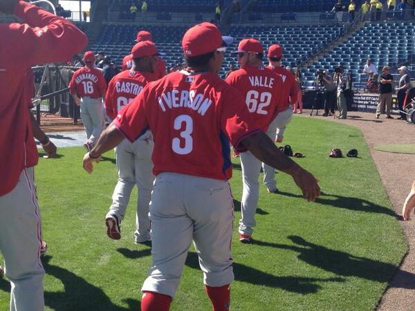 Allen Iverson's number retired tonight. Phillies send regards with Marlon Byrd wearing AI jersey in BP. http://t.co/5zHyT1bTAs