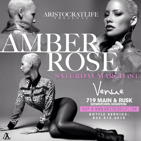 AMBER ROSE!! @DaRealAmberRose Plus Super Bowl Champ @Earl_Thomas & Friends at VENUE Tonight! Early Arrival is a must! http://t.co/Bl5mj6f6lr