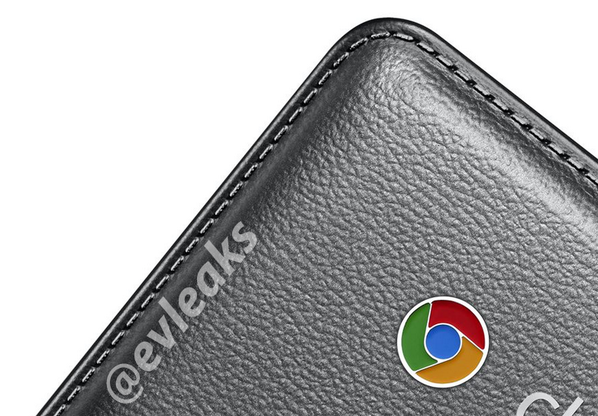 chromebook logo on Samsung chromebook 2